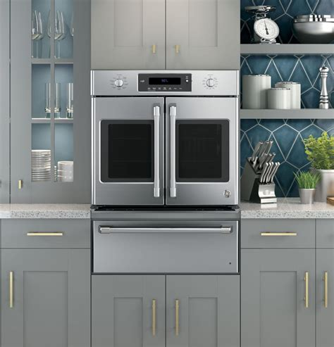 ge ctshss   single french door electric wall oven  true convection wifi connect