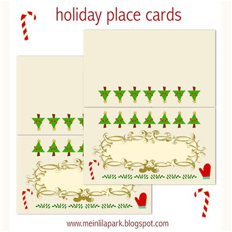 free printable christmas table place cards template free printable holiday place cards ausdruckbare