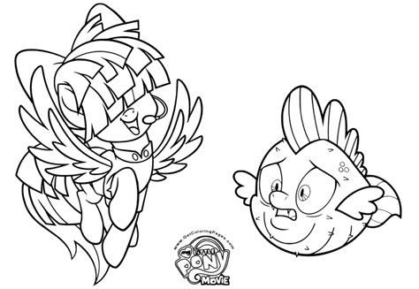 My Little Pony Coloring Pages Spike Erieairfair