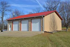 40x48x12 3 door garage riner va With 36x36 pole barn
