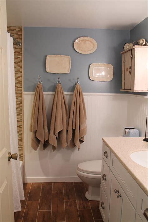 Bathroom Remodel Ideas Tile by Remodelaholic Bathroom Renovation With Wood Grain Tile
