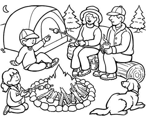 camping coloring pages best coloring pages for 895 | Family Camping Coloring Page