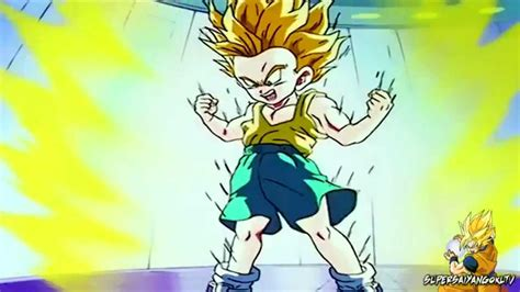 kid trunks turns super saiyan    time kid
