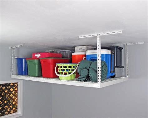 overhead garage storage racks reviews best ceiling mounted garage storage racks reviews home pro