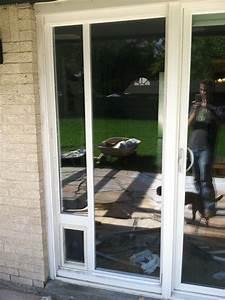 dog door for sliding glass door allstateloghomescom With dog door steps