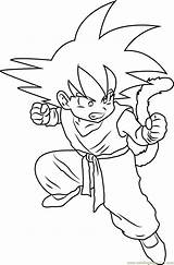 Goku Coloring Kid Pages Angry Drawing Characters Coloringpages101 Printable Getcolorings Cartoon Fresh Getdrawings sketch template