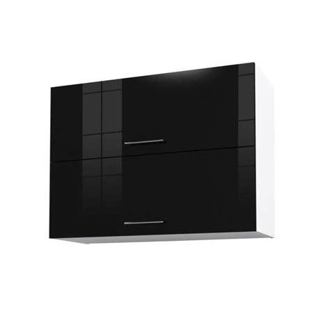 meuble haut cuisine noir city meuble haut de cuisine l 80 cm noir laqué achat