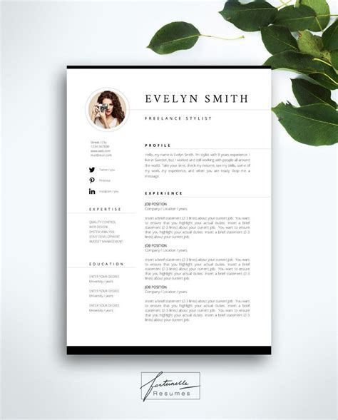 Template Cv Gratuit by Resume Template 3 Page Cv Template Cover Letter