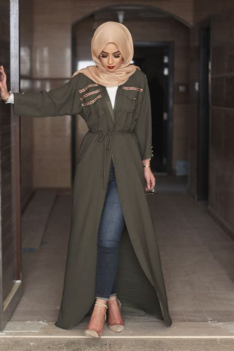arabic style bottle green bisht sohamtcom bisht hijab