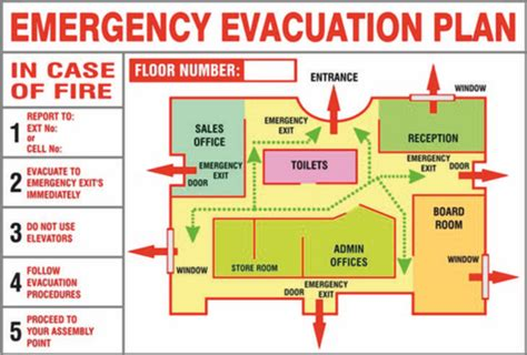 night glow evacuation plan board rs  square feet