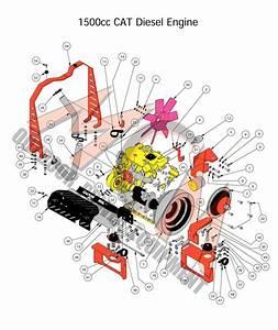 Bad Boy Mower Part  2016 Diesel 1500cc Cat Diesel Engine