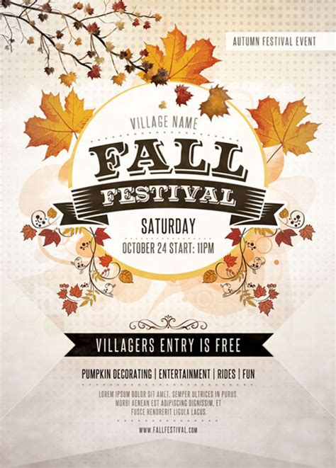 fall festival flyer template 28 festival flyer template psd vector eps jpg freecreatives