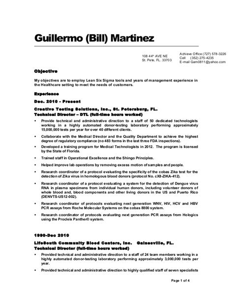 resume bill martinez