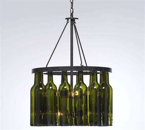 wine bottle chandelier pink apples wine bottle chandelier