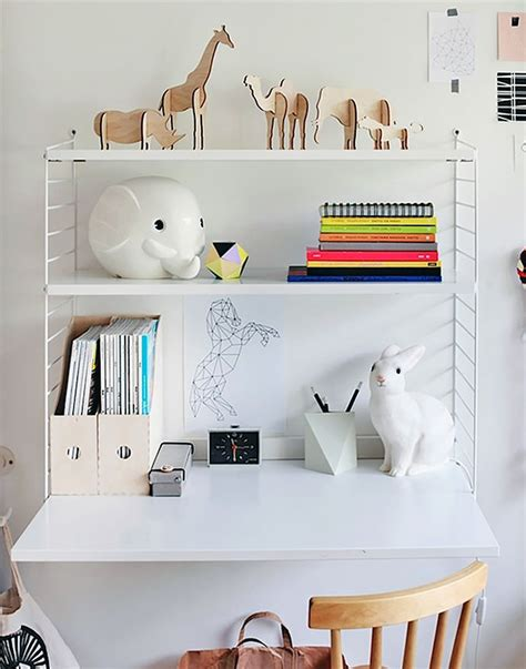 kids desk with shelves modern wall shelves for kids handmade charlotte