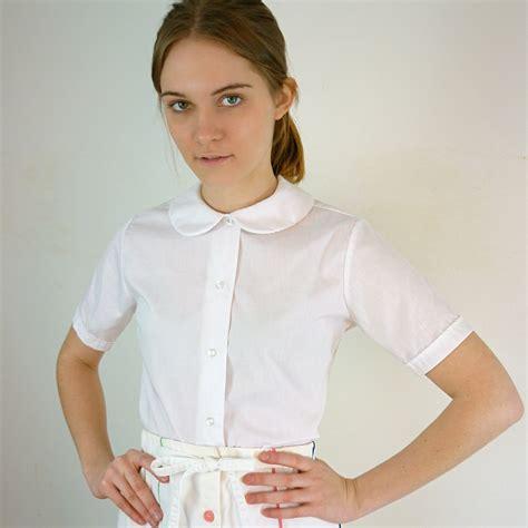 collar blouse vintage white pan collar blouse by jessjamesjake on etsy