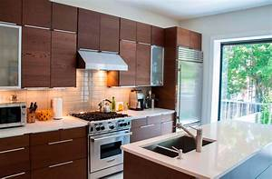 Modern, Kitchen, Cabinet, Decor, Ideas, Features, Microwave, Built, In