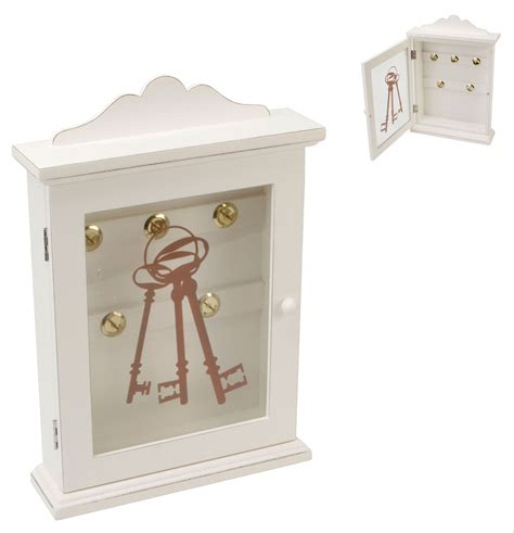 shabby chic key cabinet decorative vintage white shabby wooden key cabinet chic storage cupboard key box