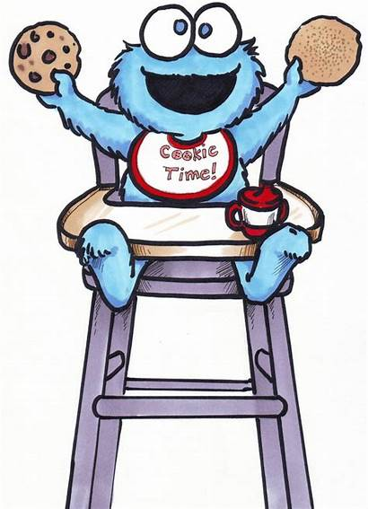 Clip Clipart Cookie Monster Cartoon Cookies Funny