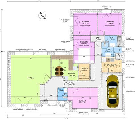 plan de maison plain pied 4 chambres avec garage stunning plan de maison plain pied chambres dsormais