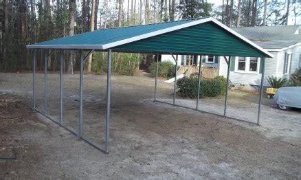 double carport  gables  stor