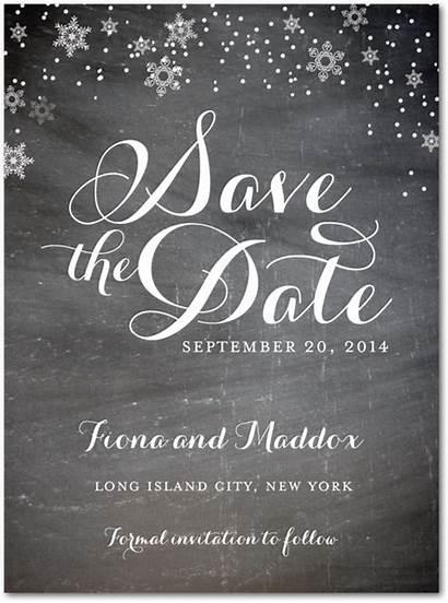Save Winter Date Cards Weddingpaperdivas