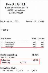 Formulierung Rechnung : gutscheinverwaltung in posbill kassensoftware kassensysteme blog ~ Themetempest.com Abrechnung