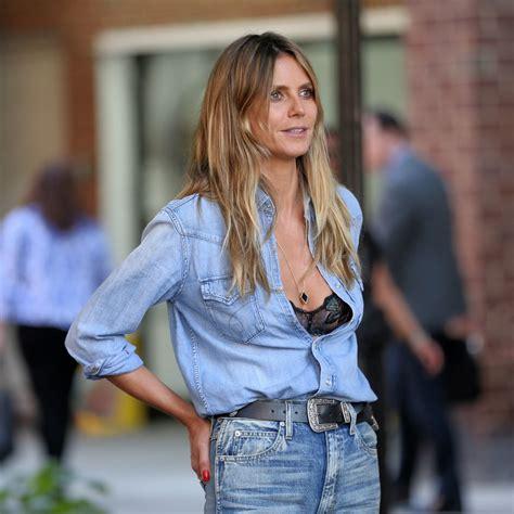 Heidi Klum Double Denim Out New York