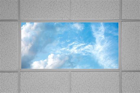led drop ceiling lights led skylight w summer skylens 2x4 dimmable led panel