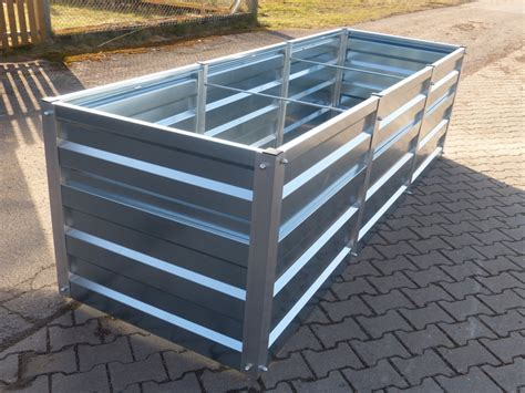Aus Metall by Hochbeet Metall Gr 1 Mtr Breit X 3 5 Mtr Lang 75cm Hoch