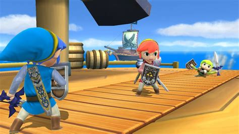 tri force heroes toon link updated  super smash