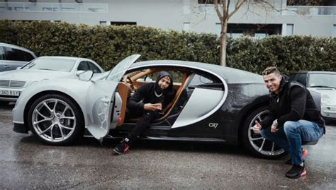 Cristiano ronaldo is a regular customer of bugatti vehicles and has purchased the veyron, a chiron and a la voiture noire with the latter apparently setting him back a whopping $18. Cristiano Ronaldo's Bugatti Chiron - Namaste Car
