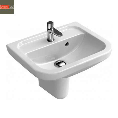 Origins Curve Compact Bathroom Basin  Uk Bathrooms