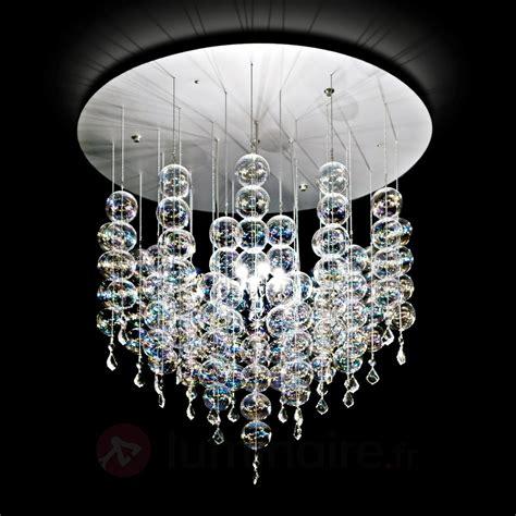 plafonnier design cuisine suspension soap dotée de boules en verre luminaire fr