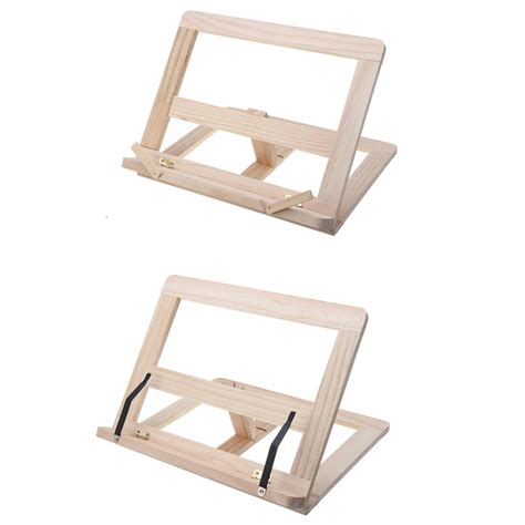 multifunctional foldable wood book tablet stand cookbook