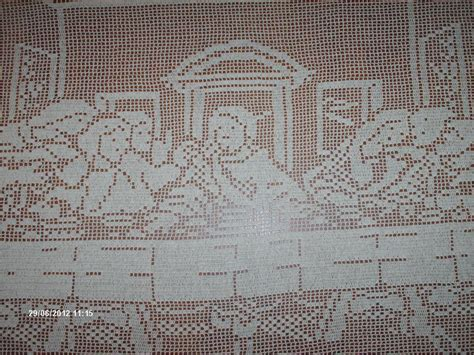 filet crochet you have to see the last supper handmade filet crochet t on craftsy