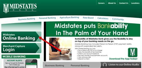 Midstates Bank Online Banking Login