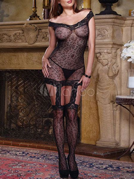 black leopard print polyester bodystockings milanoo