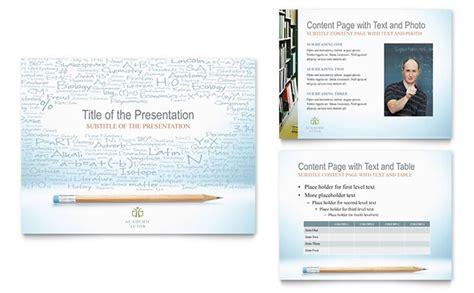 academic tutor school powerpoint  template