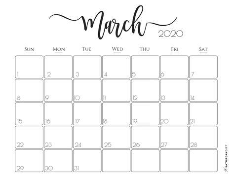 march  calendars     print