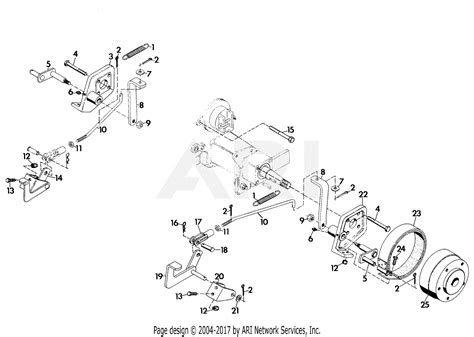 gravely  brake  wheel tractor parts diagram