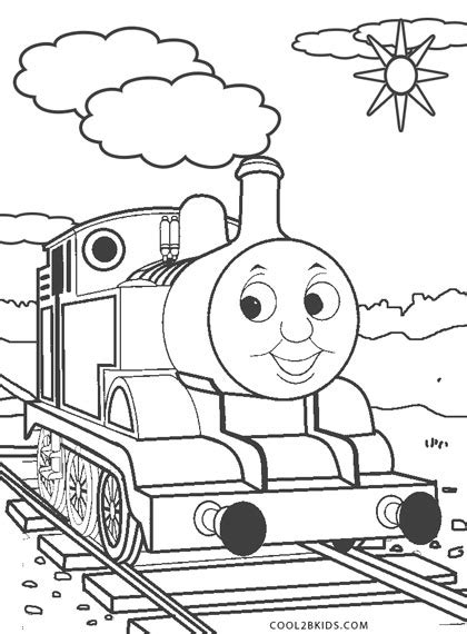 thomas  train coloring pages coolbkids