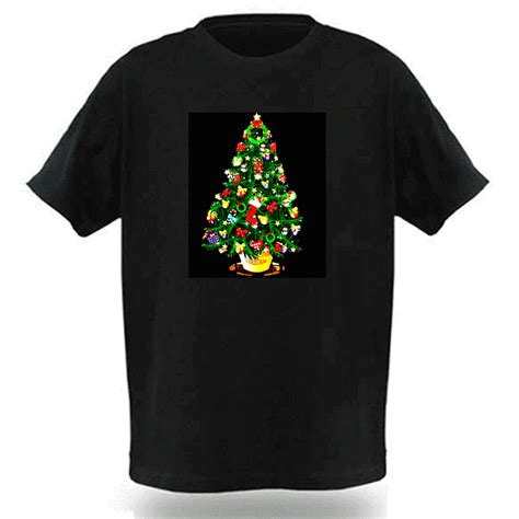 sound activated flashing light up down led t shirt party