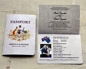 Passport wedding invitations matik for for Average wedding invitation cost australia