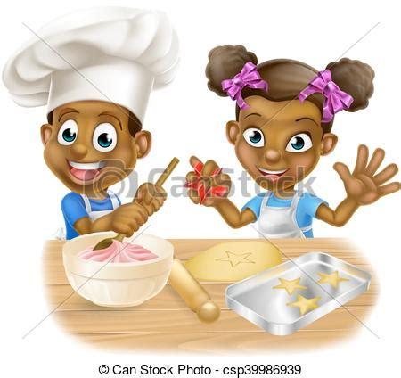 dessin animé cuisine chefs cuisine dessin animé gosse garçon gâteaux
