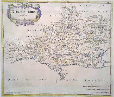 map  dorset robert morden circa  antique
