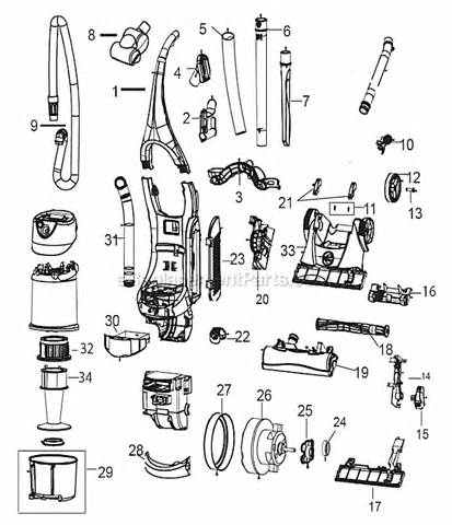bissell 6393 parts list and diagram ereplacementparts com