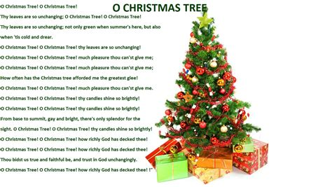 o christmas tree christmas lyrics songs decoration ideas christmas lyric slides
