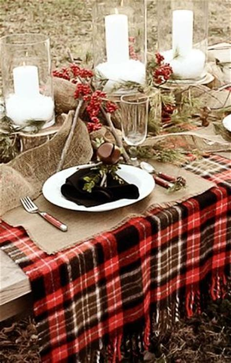 christmas outdoor table settings ideas haus and home christmas plaid goodness