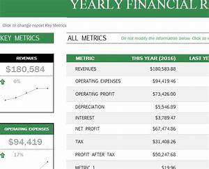 Project Scorecard Template Yearly Financial Report My Excel Templates